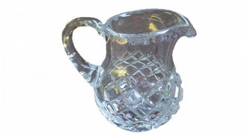 mėlynas, kristalas, puodą, jar, vazos, stiklas, izoliuotas, balta, fonas, kristalų puodą