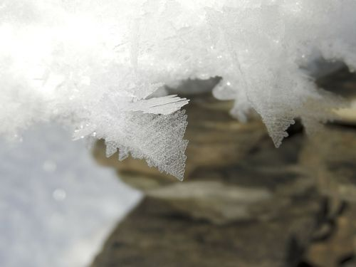 crystals snow ice