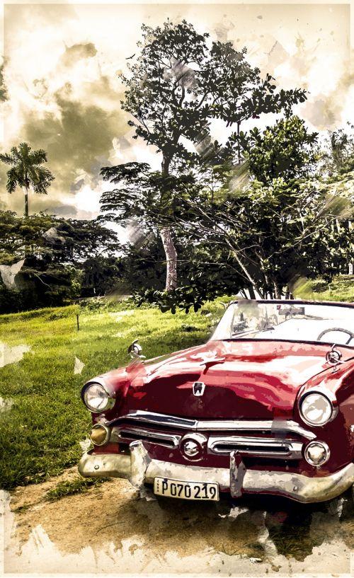 cuba oldtimer automobile
