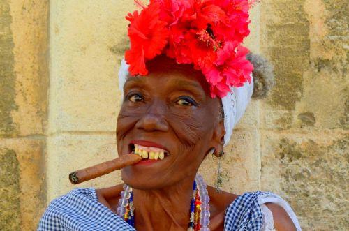 cuba cigar cuban woman