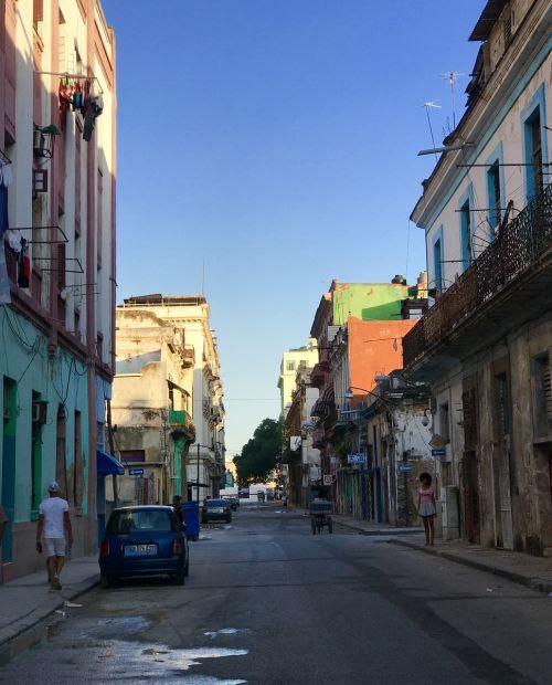 cuba streets sunset