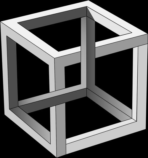 cube escher gradient
