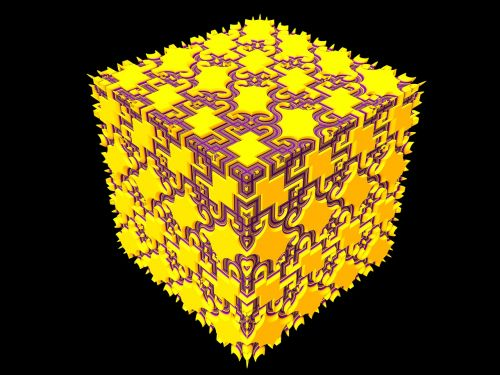 cube render geometric