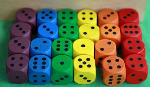 cube wood colorful