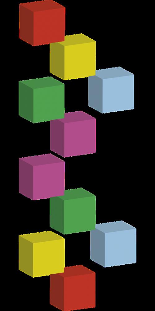 cubes layout 3d cubes