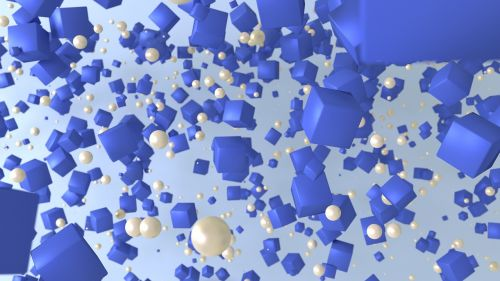 cubes blue wallpaper