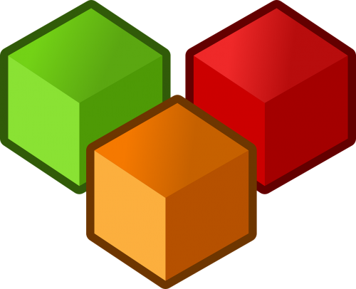 cubes three objects