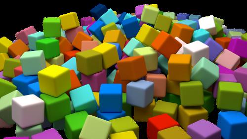 cubes assorted random