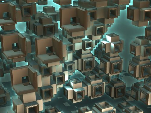 background cubic square