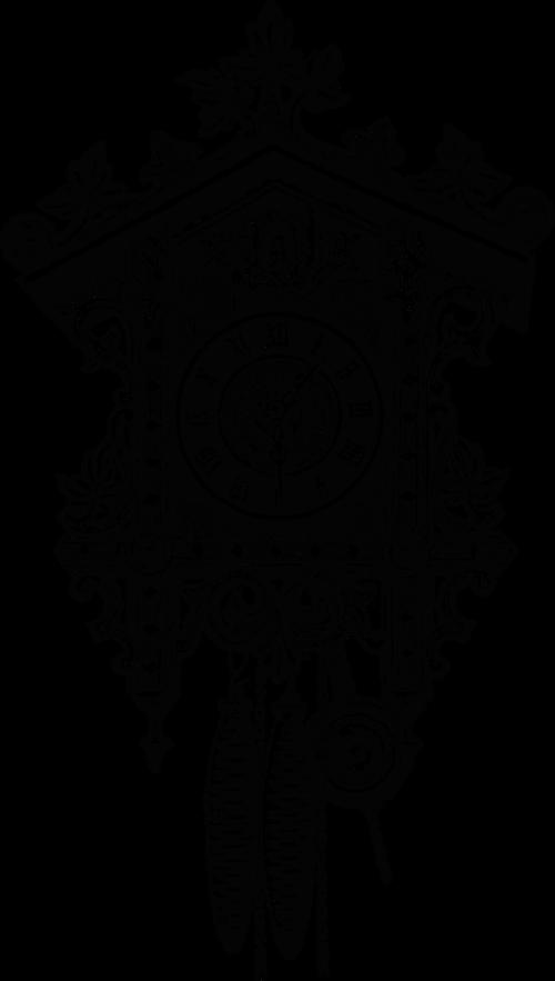 cuckoo clock clock vintage illustration