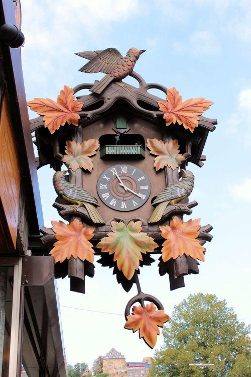 cuckoo clock shield advertising watchmaker