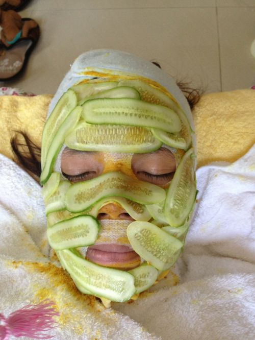 cucumber cucumber facial facial treatment