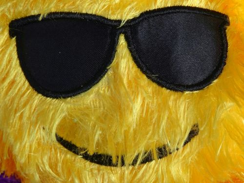 Cuddly Smiley Toy With Sunglasses