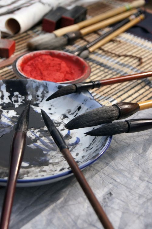 culture writing brush calligraphy