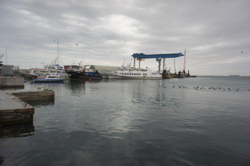 cumberland cove anapa black sea in winter