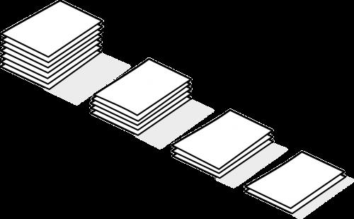 cumulation paper pile