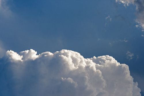 Cumulus Clouds With White Edge