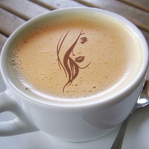 cup coffee girl