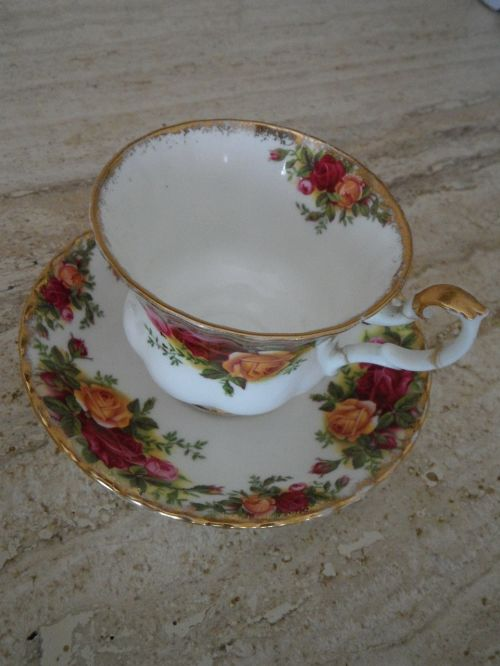 cup old porcelain