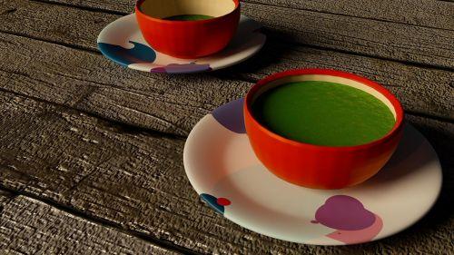 cup tea green