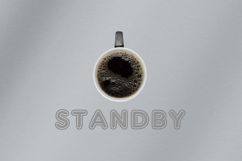 cup coffee standby