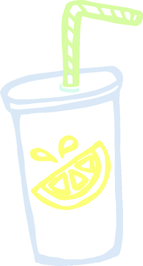 cup lemonade beverage