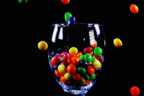 cup glass candies