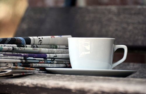 cup  newspapers  magazines