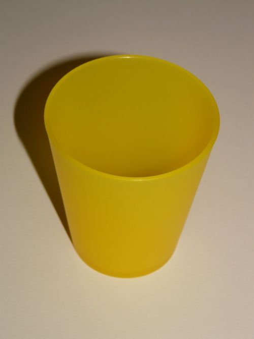 cup drink yellow