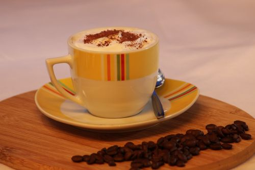 taurė,kava,cappuccino,kavos puodelis,gerti,putos,karštas,kavos putos,Milchschaum,pupos,kavinė,kavos pupelės