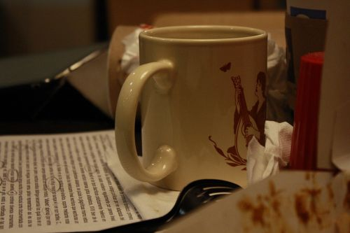 cup coffee to write