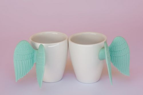 cup wing turquoise