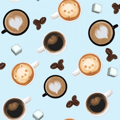 cup coffee sugar