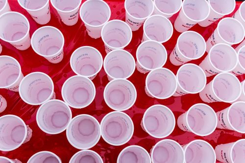 cup plastic cups water