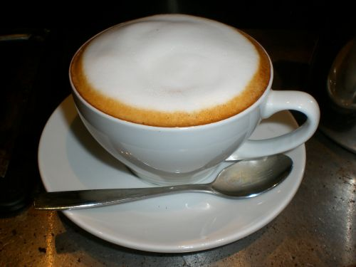 cup of cappuccino beverage hot