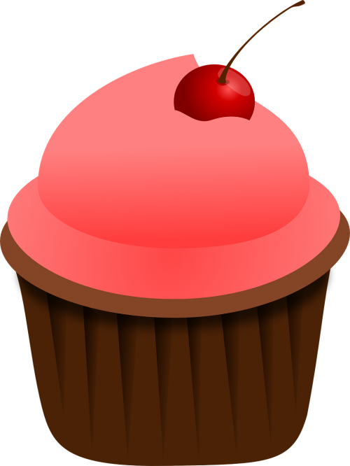 cupcake pink food