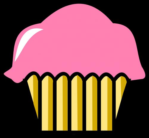 cupcake,mielas cupcake,mielas,tortas,maistas,saldus,gimtadienis,desertas,rožinis,mufino,nemokama vektorinė grafika