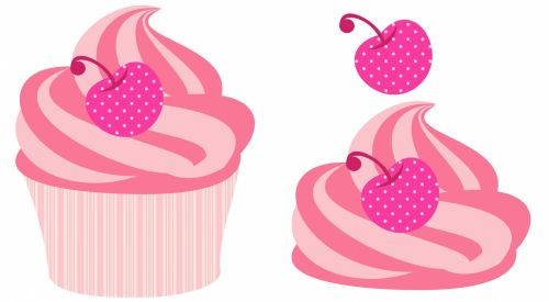 Cupcake Decoupage Clipart