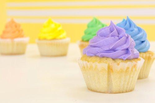 cupcakes  rainbow  purple