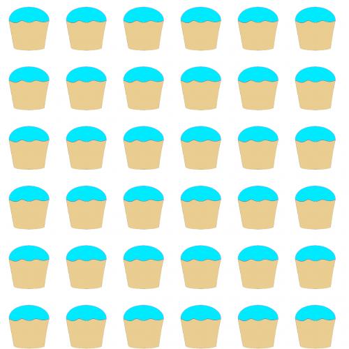 cupcakes blue food
