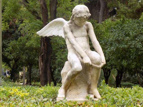 cupid statue zappeion garden