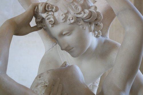 cupid and psyche  paris  statue