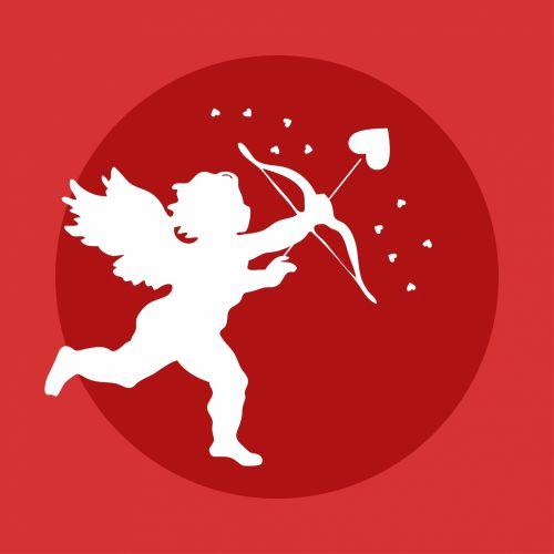 Cupid Bow Arrow Heart