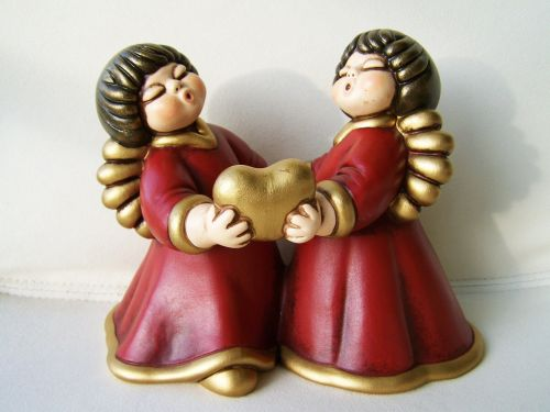cupids porcelain figurines christmas