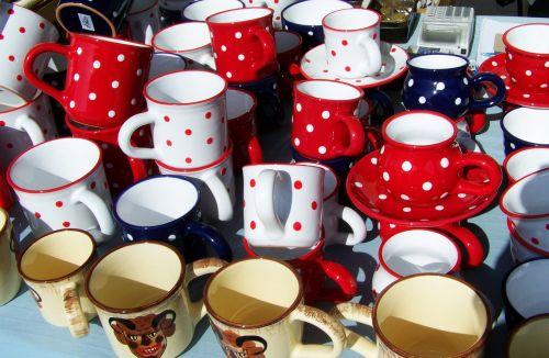 puodeliai,taškeliai,keramika