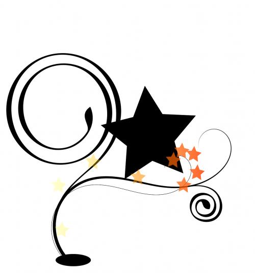 curlicue kringel circle