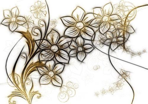 curlicue kringel flowers