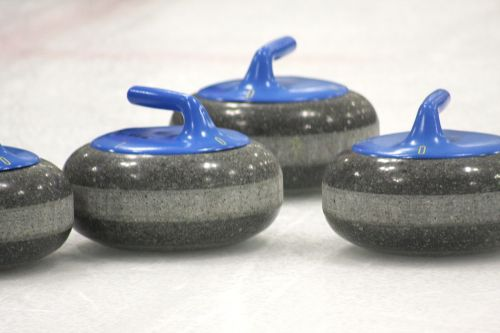 curling curling stone ice
