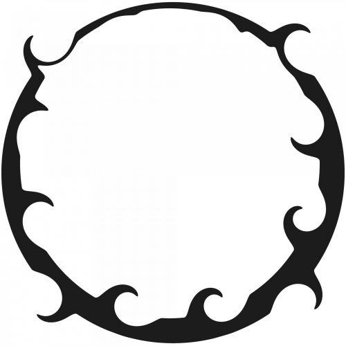 juoda, garbanotas, žiedas, rėmas, balta, fonas, siluetas, garbanotas rėmas