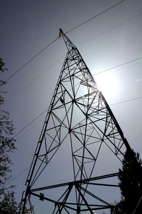 current power poles strommast